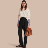 Burberry English Wool Mohair High-waist Tailored Trousers
