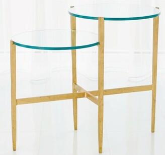 Global Views Dante End Table Table Base Color: Antique Gold