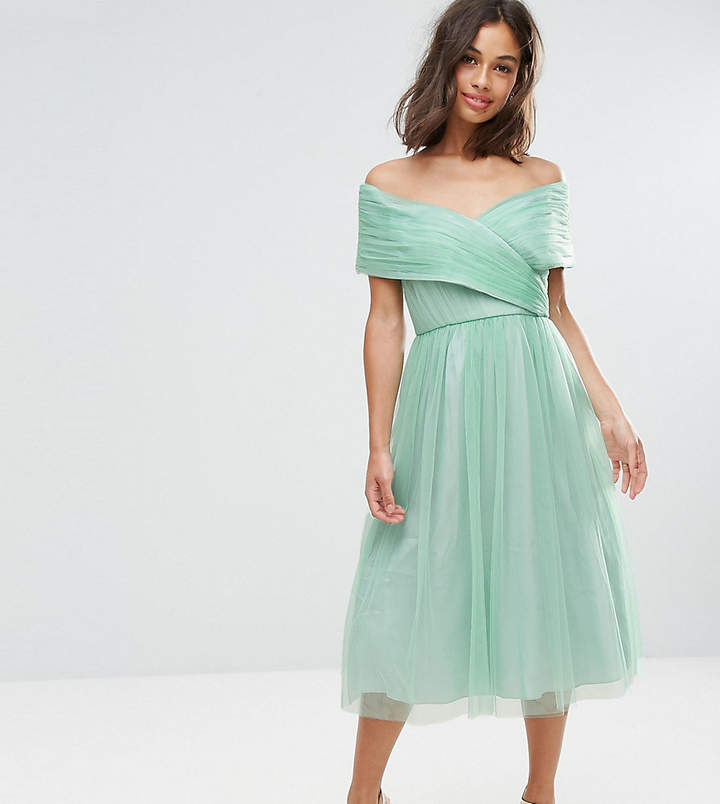 Asos WEDDING Tulle Midi Dress