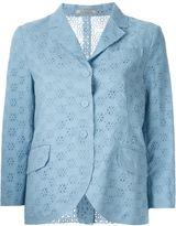 Nina Ricci broderie anglaise blazer - women - Cotton - 38