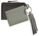 AllSaints Women's Dive Keyfob Lambskin Leather Zip Pouch & Card Case - Blue