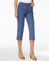 Style&Co. Style & Co Printed Capri Pants, Only at Macy's