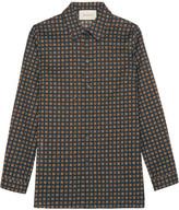 Gucci Printed Cotton-poplin Shirt - Navy