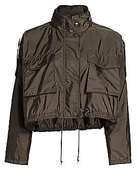 Prada Women's Cropped Nylon Anorak