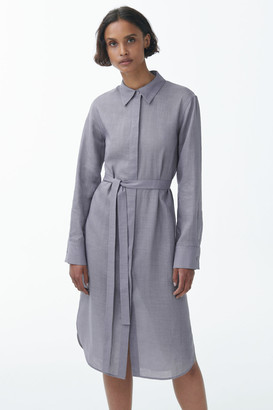 Cos Sheer Ramie Shirt Dress
