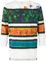 Paul Smith striped floral print T-shirt - men - Cotton - S