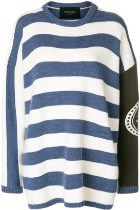 Mr & Mrs Italy striped boxy jumper