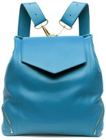 The Professional Leather Backpack Purse In Blue