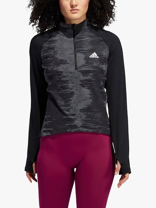adidas AEROREADY Half Zip Training Pullover, Black/White