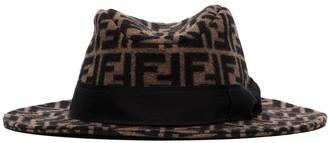 Fendi FF motif grosgrain-trimmed hat