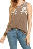 Chaser Women's Reflected Skulls Tank