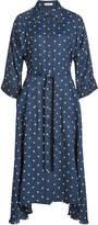 Nina Ricci Printed Shirt Dress with Silk