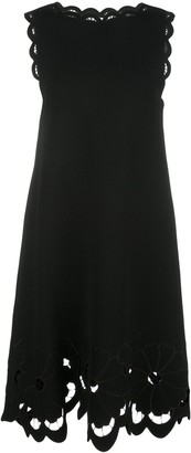 Oscar de la Renta Macrame Trim Shift Dress