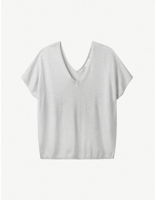 The White Company Short-sleeved oversized recycled cotton-blend T-shirt
