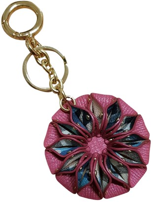 Burberry Pink Leather Bag charms