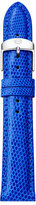 Michele 16mm Lizard Skin Watch Strap, Cobalt