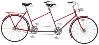 Brimfield & May Modern Iron Two-Seat Bike Wall Decor