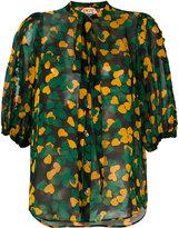 No.21 clover leaf print blouse