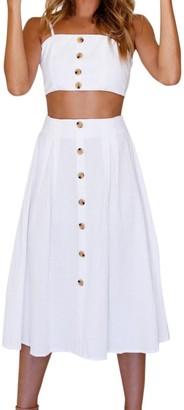 Topbeauty Clearance Long Skirt Summer Skirt Set/Bowknot Lace Up Tops+Long Skirt/Beautytop Casual Beach Womens Dress Beachwear Swimsuit Swimwear Bathing Suit Bikini/Women's Dresses (Small