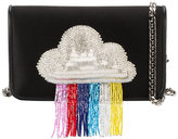 Les Petits Joueurs ginny rainbow beaded clutch bag - women - Leather/Polyester - One Size