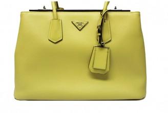 Prada saffiano Yellow Leather Handbags
