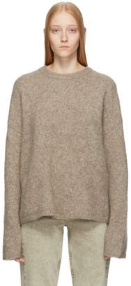 Totême Brown Cashmere and Mohair Oversized Biella Sweater