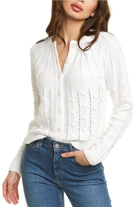 Forte Cashmere Cropped Bobble Cardigan