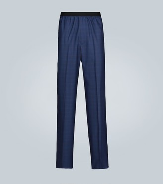 Balenciaga Relaxed wool and silk-blend pants