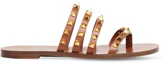 Valentino 10mm Rockstud Leather Thong Sandals