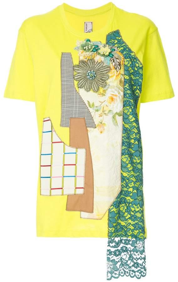 Antonio Marras patchwork T-shirt
