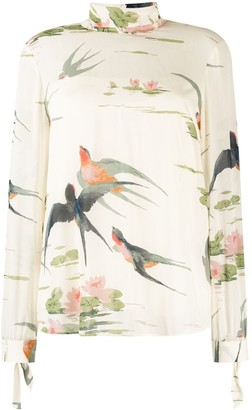 RED Valentino Bird Print Blouse