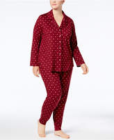 Alfani Plus Size Printed Pajama Set, Created for Macy's