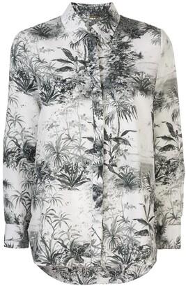 Adam Lippes Plant Print Shirt