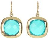 Nunu Apatite Quartz Square Drop Earring (Gold/Apatite Quartz) - Jewelry