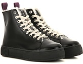 Eytys Kibo Faux Fur-lined Leather High-top Sneakers