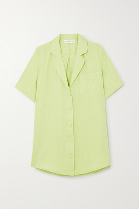 Faithfull The Brand Charlita Linen Shirt - Lime green
