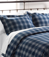 L.L. Bean Ultrasoft Comfort Flannel Sham, Windowpane