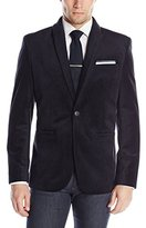 Perry Ellis Men's Tonal Printed Velvet Jacket