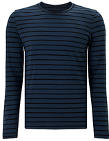 Denham Signature Long Sleeve Stripe T-shirt, Night Sky