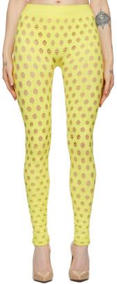 MAISIE WILEN Yellow Perforated Leggings