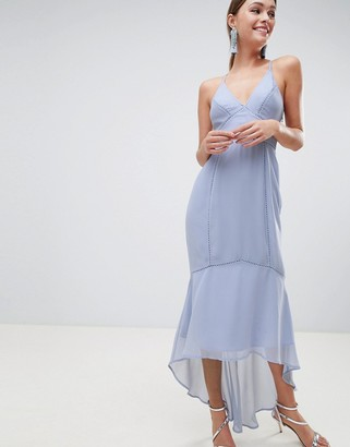 ASOS DESIGN cami midi dress with lace inserts