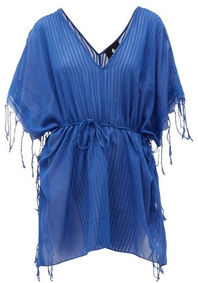 SU PARIS Kya Ribbed Cotton Tunic - Blue