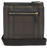 Burberry Beckley leather-trimmed messenger bag