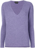 Tom Ford ribbed V-neck jumper - women - Cashmere - 38