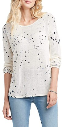 Nic+Zoe Paint The Town Sweater (White Multi) Women's Clothing