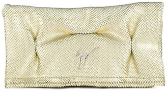 Giuseppe Zanotti foldover clutch bag