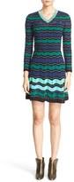 M Missoni Women's Ripple Ribbon Stitch Fit & Flare Dress