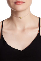 Argentovivo 18K Gold Plated Sterling Silver 'L' Initial Heart Choker Necklace