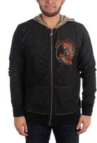 Affliction Mens Ride Or Die Longsleeve Reversiblezip Hood, Size:, Color: Brown