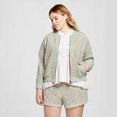 Victoria Beckham for Target Women's Plus Mint Green Lace Bomber Jacket
